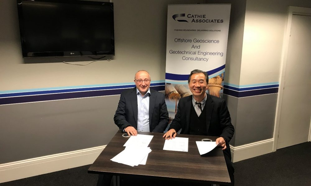 Cathie signing MOU for Offshore wind in South Korea deal